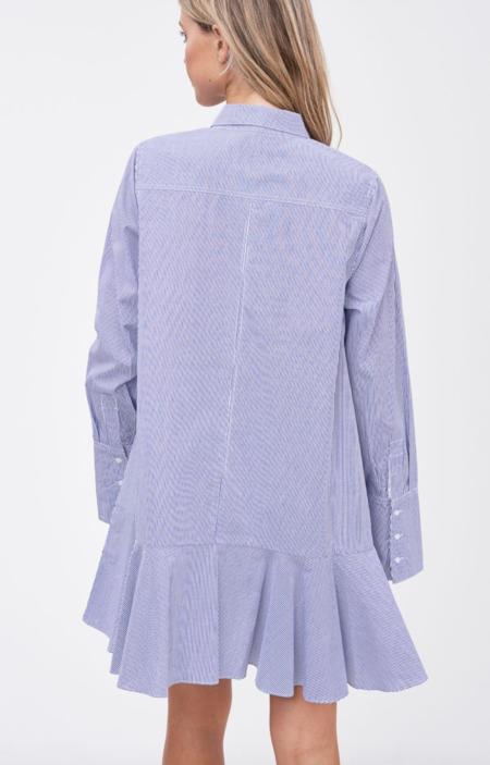En Saison Striped Mini Shirtdress