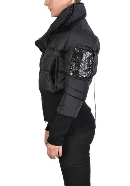 Unisex La Haine High Neck Jila Puffer Bomber Jacket - Black