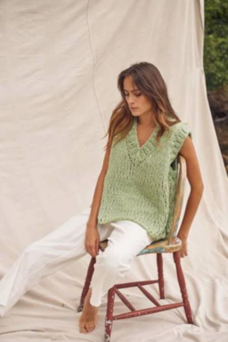 Little Lies Poppy Hand Knitted Vest - Green
