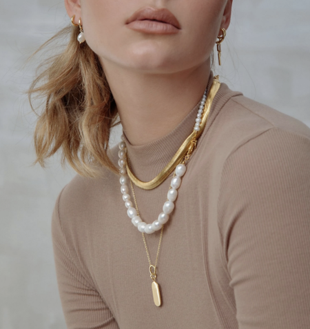 AOE Annalise Necklace - Pearl