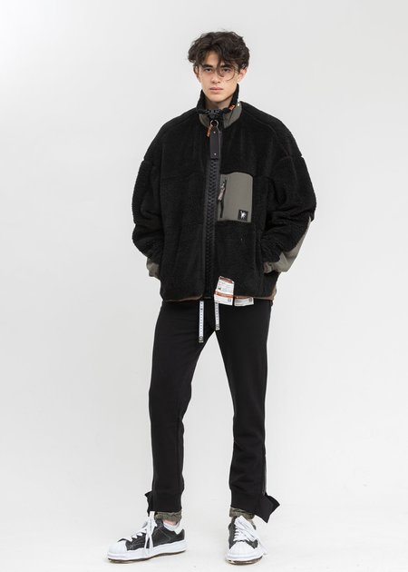 Mihara Yasuhiro Hem Layered Pants - Black