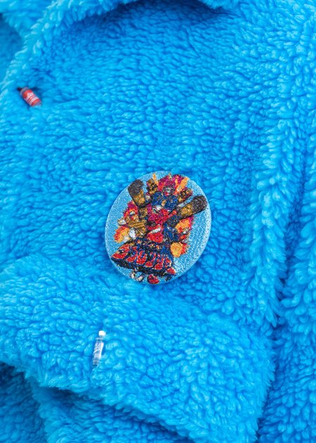 Doublet Embroidery Badge - Light Blue