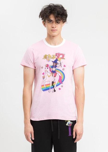 Doublet  Character Velour T-Shirt - Pink