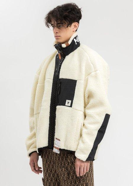 Mihara Yasuhiro Wide Back Boa Jacket - White