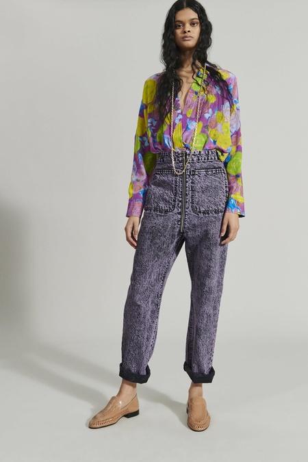 Rachel Comey Barrie Pant - Lavender Acid Wash