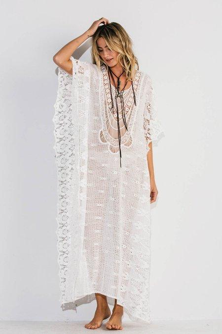 Jen's Pirate Booty SAMPLE Romantic Mykonos Kaftan dress - Pearl