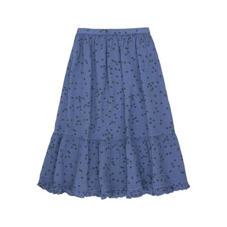 kids tinycottons daisies long skirt - soft blue/ink blue