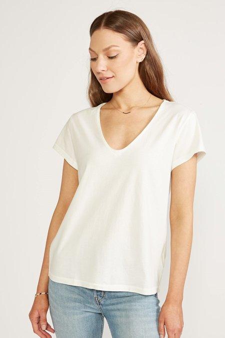 ética Aiden Organic Cotton V Neck Tee - Cloud White