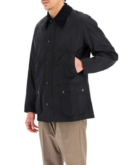 Barbour Ashby Waxed Cotton Jacket  - black