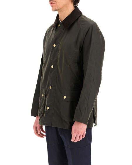 Barbour Ashby Waxed Cotton Jacket - olive green