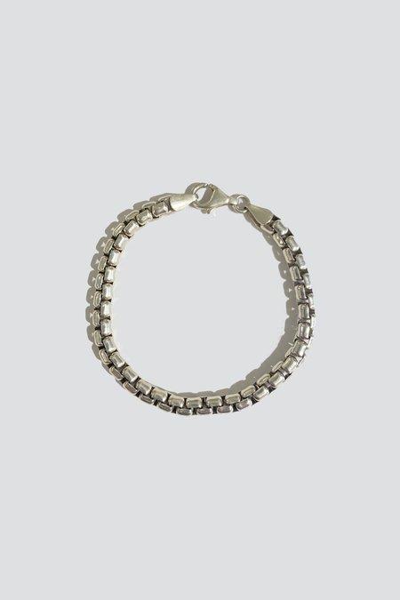 Vintage Heavy Box Bracelet -  Sterling Silver