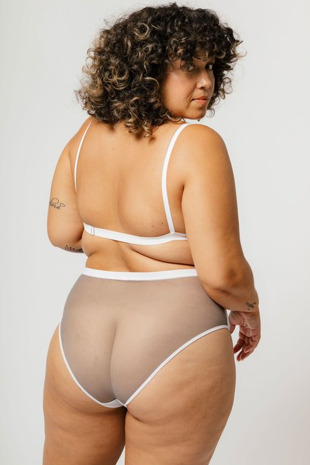 Mary Young Lux High Waist Brief - Concrete