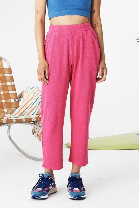 Back Beat Co. Hemp Sport Rib Pants - Virtual Pink