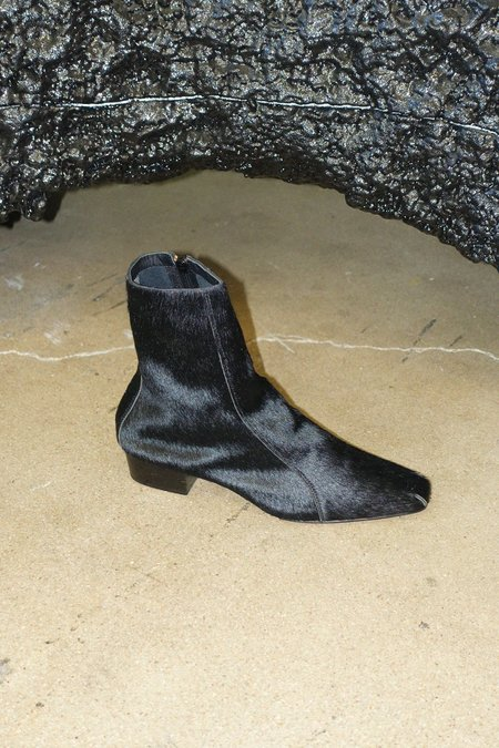 Rachel Comey Cove Boot - Black Calf Hair Leather