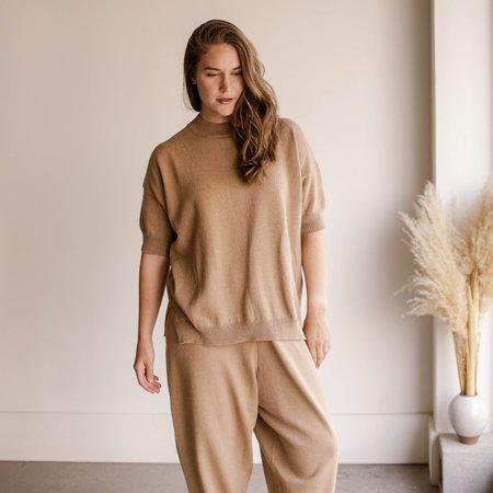 Mónica Cordera Cotton Sweater - Camel