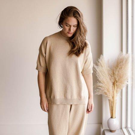 Mónica Cordera Cotton Sweater - Straw
