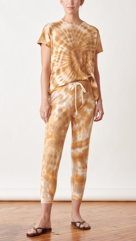 The Great. The Cropped Sweatpant - Golden Tie Dye
