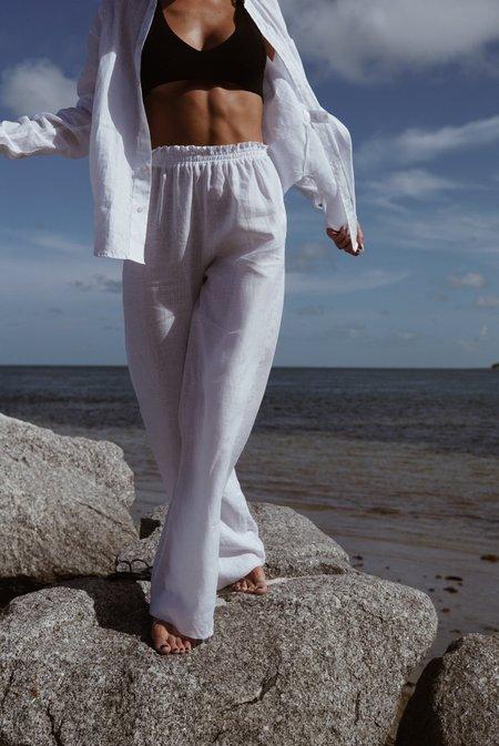 Parentezi Linen Pants - White