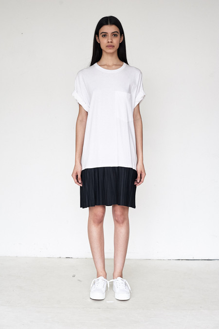 Assembly New York Cotton T-Shirt Pleated Dress