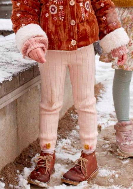 Kids Louise Misha Pom Pom Legging - Blush
