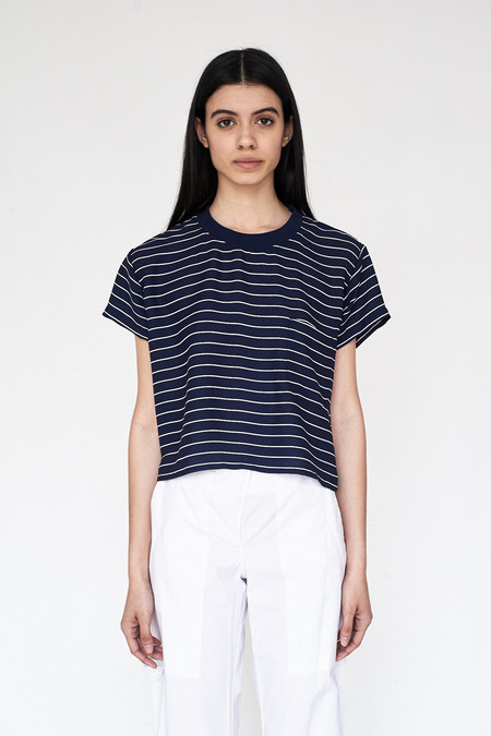 Assembly New York Poly Stripe Loose Pocket Tee