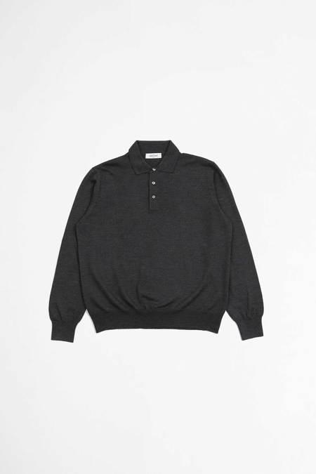 Gran Sasso Tennis Long Sleeve Polo - Dark Grey