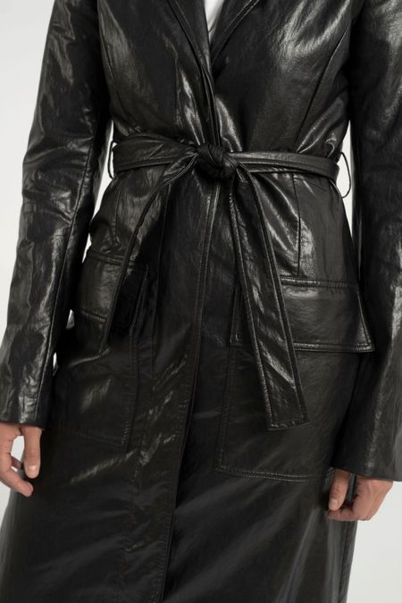 Nomia Belted Trench - Black