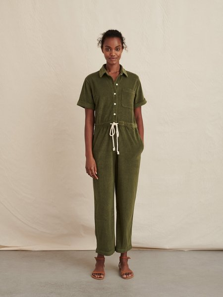 Alex Mill Benny Terry Jumpsuit - Army Olive