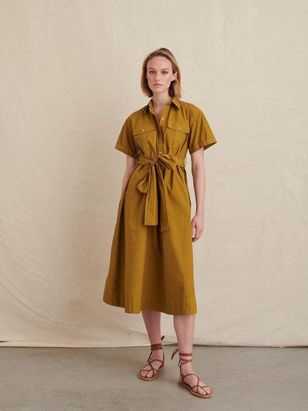 Alex Mill Utility  Paper Cotton Dress - Golden Olive