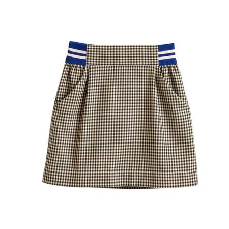 Kids Bellerose Arch Skirt - Check