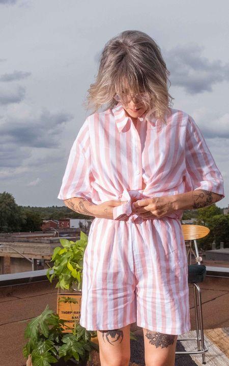 Odeyalo Parlour Top - Pink Stripes