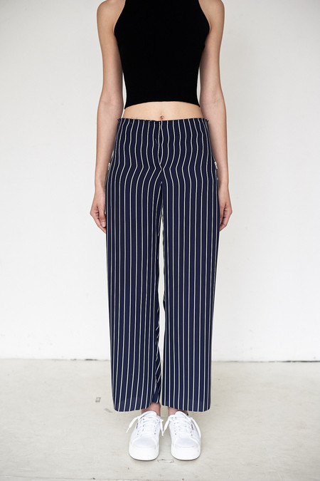 Assembly New York Poly Stripe Simple Pant