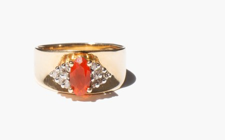 Kindred Black Connaught Ring - 14k gold