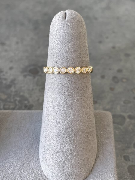 EF Collection Diamond Bezel Stack Ring - 15k Yellow Gold