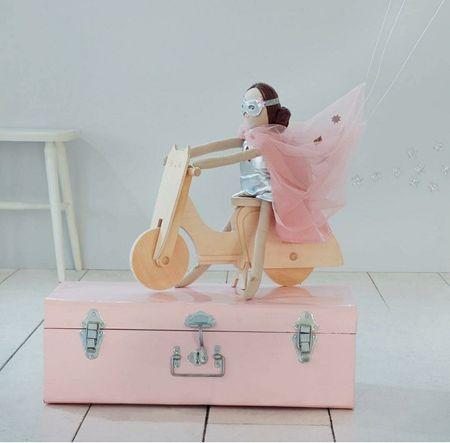 KIDS meri meri Cat Scooter Doll Toy