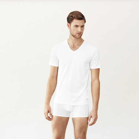 Handvaerk V Neck Undershirt White