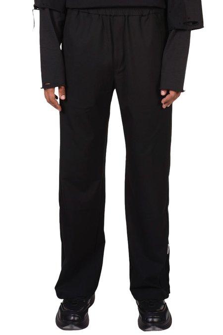 C2H4 Streamline Panelled Tailored Track Pants - BLACK