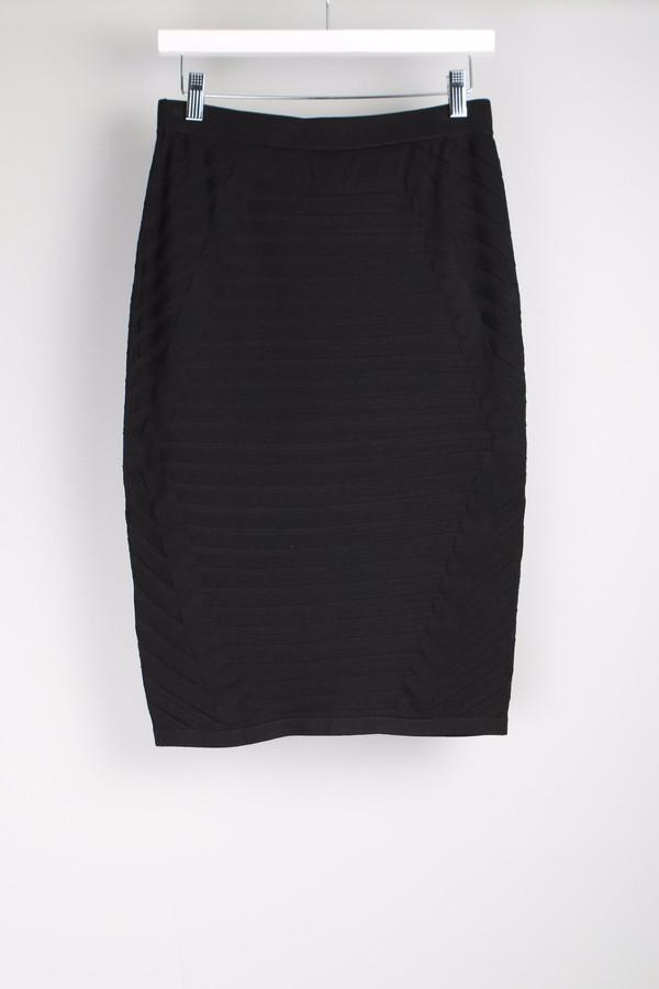 Jonathan Simkhai Diagonal Rib Pencil Skirt