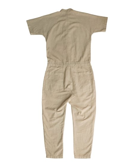 Unisex SEEKER Short Sleeve Jumpsuit - Sand