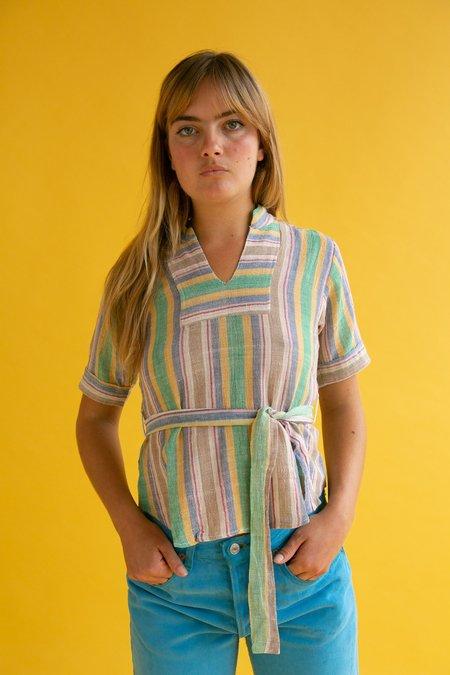 Vintage 1970s Cheese Cloth Stripe Top