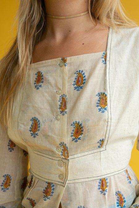 Vintage 1970s Gauze Indian Blouse