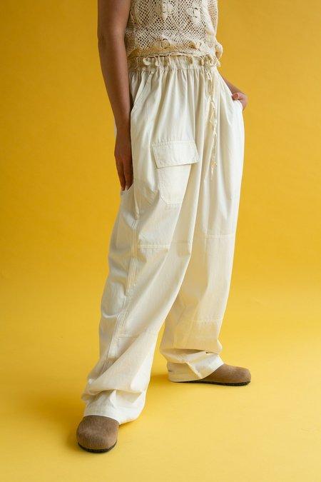 Vintage 1990s Parachute Pants - Cream