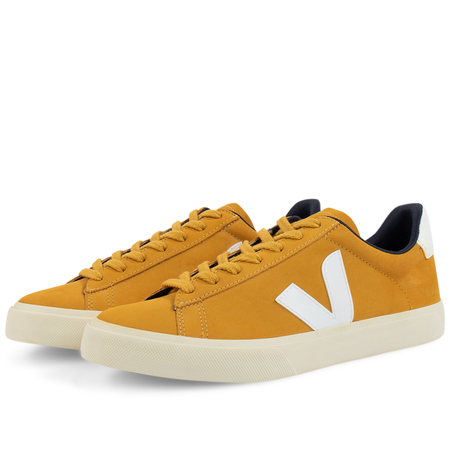 Veja campo nubuck Moutarde Shoes -  White