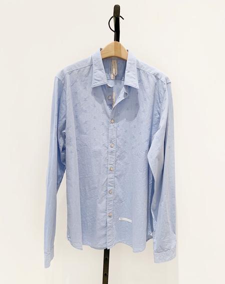 DNL Mens Cotton Anchor Shirt - Blue