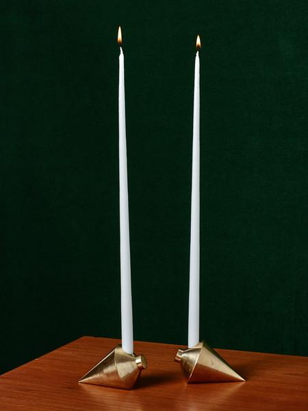 Anna Karlin Studios Brass Candleholders