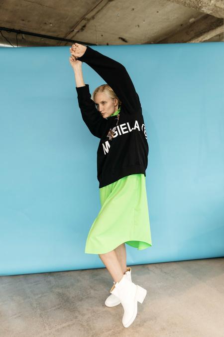 Unisex MM6 Maison Margiela Eagle Logo Sweatshirt - Black
