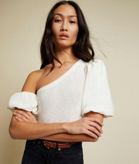 Nation Ltd Daphne Asymmetric Tee - Off White