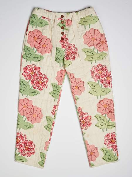 Marvin Ruby Appliqué Zinnia Quilted Pant