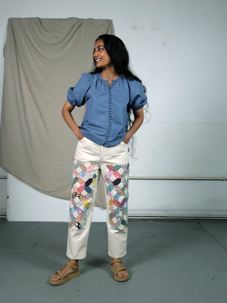 Marvin Ruby Quilted Park Pant - Natural