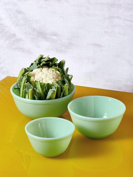 Mosser Glass Jadeite Milk Glass Mixing Bowl - Set of 3